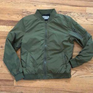 Men's Green Bomber Jacket - lightly Used